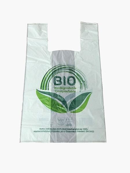 Οικολογικές σακούλες φανελάκι βιοδιασπώμενες από άμυλο